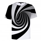 Men Women 3D Hypnosis Swirl Printing Short Sleeve T-Shirt  as shown_XL