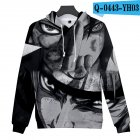 Men Women 3D Naruto Series Digital Printing Loose Hooded Sweatshirt Q-0443-YH03 B_L