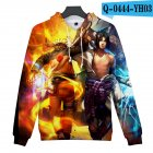 Men Women 3D Naruto Series Digital Printing Loose Hooded Sweatshirt Q-0444-YH03 C_XL