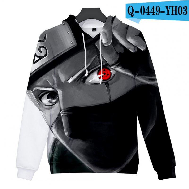 Men Women 3D Naruto Series Digital Printing Loose Hooded Sweatshirt Q-0449-YH03 H_M
