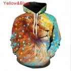 Men Women 3D Starry Lion Printing Hooded Large Size Sweatshirts Autumn Winter Baseball Uniform Starry lion_L
