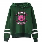 Men Women American Drama Riverdale Fleece Lined Thickening Hooded Sweater Tops Green D M