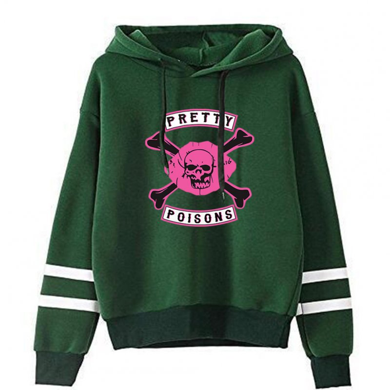 Men Women American Drama Riverdale Fleece Lined Thickening Hooded Sweater Tops Green D_XXXL