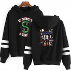 Men Women American Drama Riverdale Fleece Lined Thickening Hooded Sweater Black E_XXL