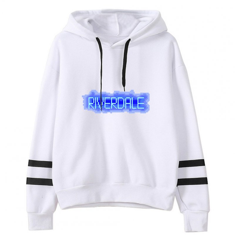 Men Women American Drama Riverdale Fleece Lined Thickening Hooded Sweater White C_XXL