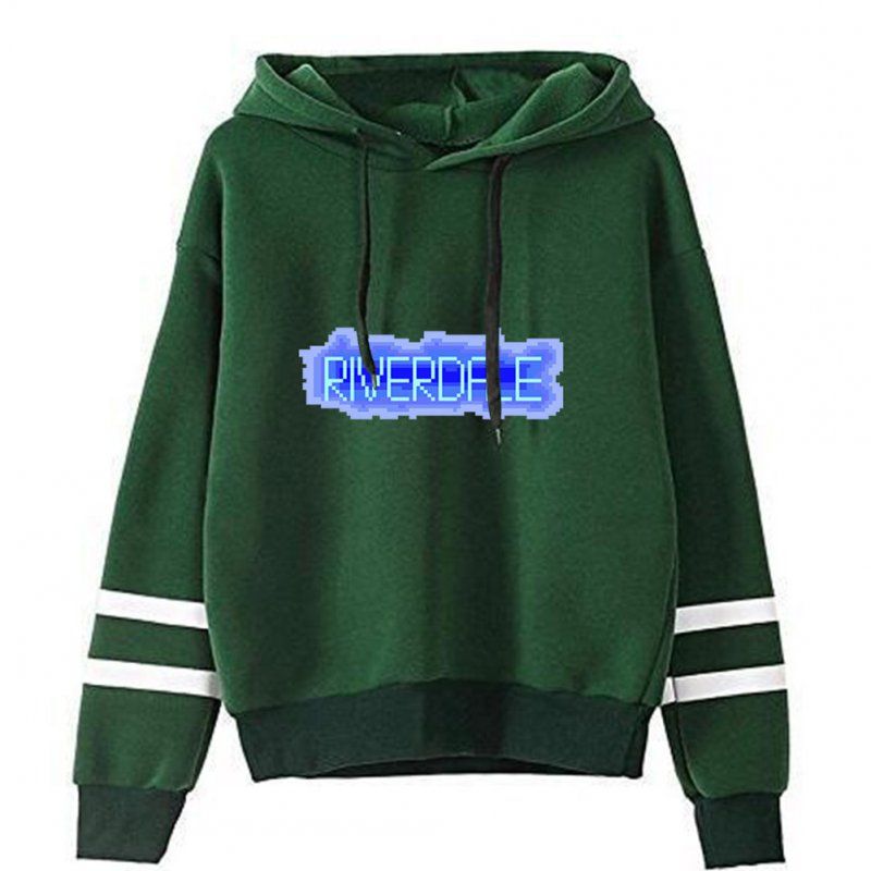 Men Women American Drama Riverdale Fleece Lined Thickening Hooded Sweater Green C_S
