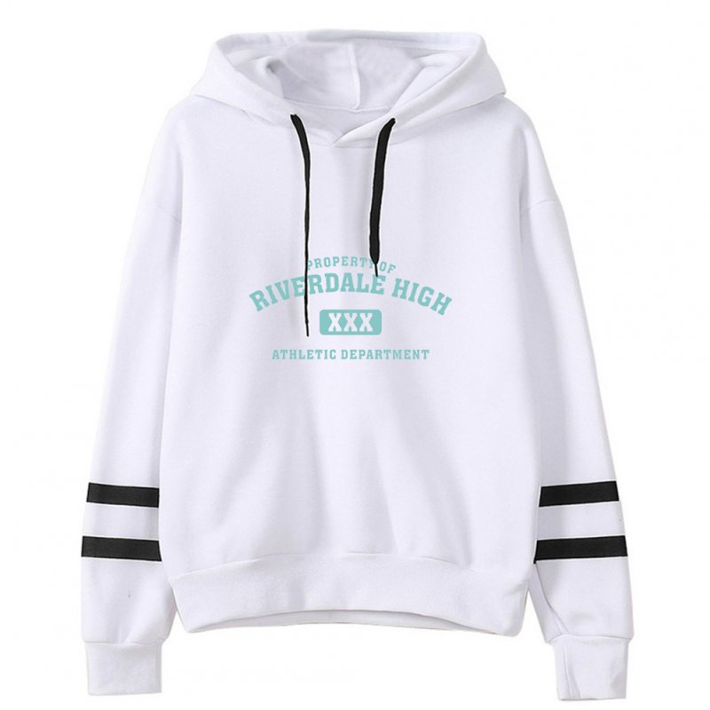 Men Women American Drama Riverdale Fleece Lined Thickening Hooded Sweater White A_S