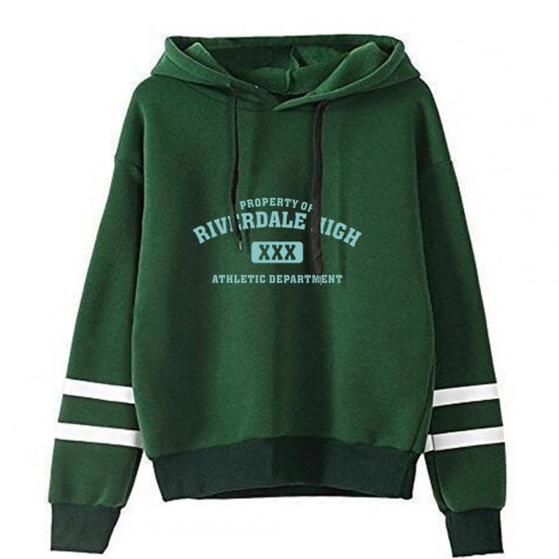 Men Women American Drama Riverdale Fleece Lined Thickening Hooded Sweater Green A_M