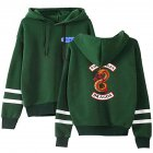Men Women American Drama Riverdale Fleece Lined Thickening Hooded Sweater Green E_L