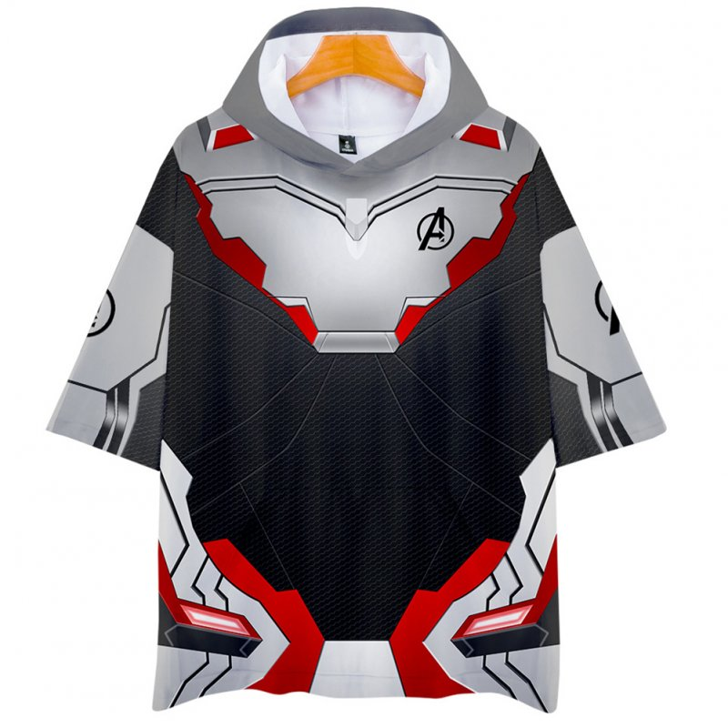 Men Women Avengers Endgame Quantum Suit 3D Fashion Printing Short Sleeve Hooded Shirt Sweatshirts K_L