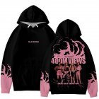 Men Women Blackpink Girls 3D Digital Printing Fashion Casual Hoodie Long-Sleeve Pullover Tops with Hood Style B_XXL