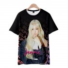 Men Women Blackpink Girls 3D Digital Printing Fashion Casual T-shirt Short-Sleeve Pullover Tops E style_M