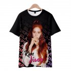 Men Women Blackpink Girls 3D Digital Printing Fashion Casual T-shirt Short-Sleeve Pullover Tops A style_S