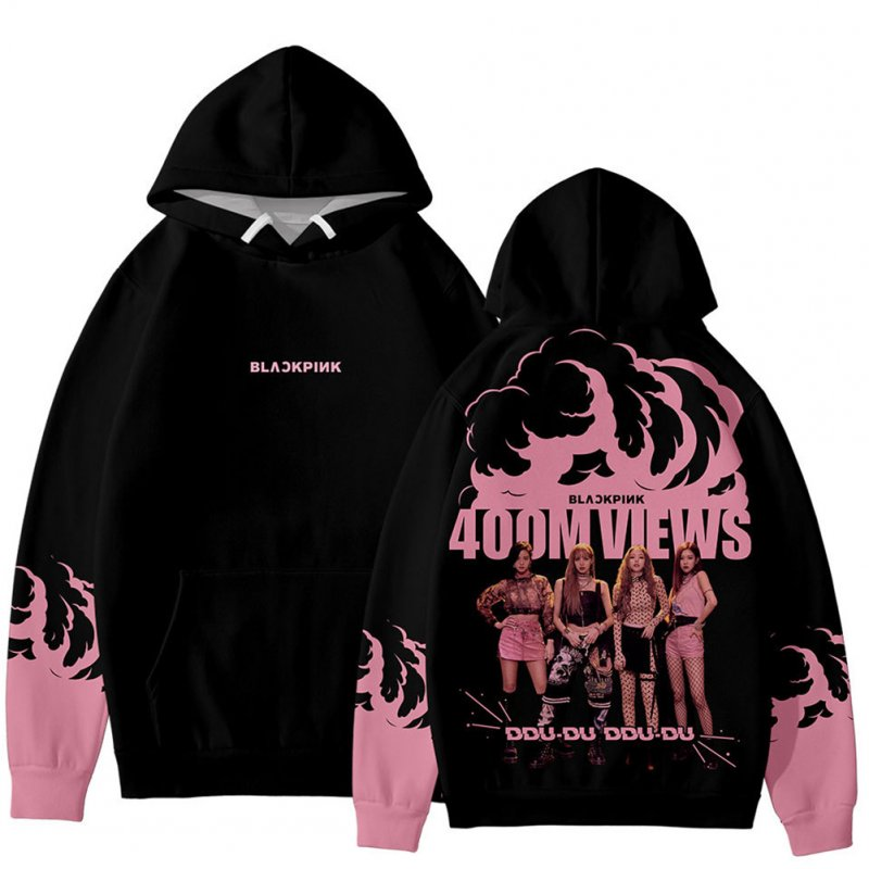 Men Women Blackpink Girls 3D Digital Printing Fashion Casual Hoodie Long-Sleeve Pullover Tops with Hood Style B_S