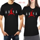 Men Women Casual Novelty Game of Thrones Arya Stark GOT Night King Jordan Printing Short Sleeve T-shirts  black_XXXL