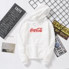 Men Women Coca-Cola Hoodies Retro Casual Fashion Sweatshirts White 995#_XL