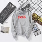 Men Women Coca-Cola Hoodies Retro Casual Fashion Sweatshirts Gray 995#_M