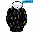 Men Women Cute Halloween 3D Skeleton Printing Hooded Sweatshirts N-03499-YH03 A style_XXXL