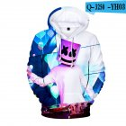 Men Women DJ Marshmello 3D Print Small Happy Face Long Sleeve Sport Hoodies Sweatshirt Q-3250-YH03 P style_M
