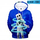 Men Women DJ Marshmello 3D Print Small Happy Face Long Sleeve Sport Hoodies Sweatshirt Q-3150-YH03 G style_L