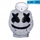 Men Women DJ Marshmello Fans 3D Print Small Happy Face Long Sleeve Sport Hoodies Sweatshirt O style_M