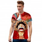 Men Women Fashion 3D Anime Digital Printing Short Sleeve T-shirt TX-RW-1355_M
