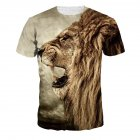 Men Women Fashion 3D Tiger Digital Printing T-shirt Round Neck Short Sleeve Tops NA188_XL