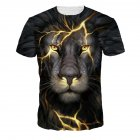 Men Women Fashion 3D Tiger Digital Printing T-shirt Round Neck Short Sleeve Tops NA319_L