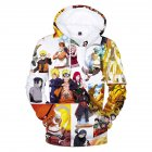 Men Women Fashion Cartoon Digital Printing Fleeces Hooded Sweatshirt Q0107-YH03 yellow_XXL