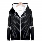 Men Women Fashion Cool Black Panther 3D Printed Long Sleeve Zipper Hooded Sweatshirt Q-4896-YH07_S