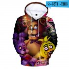 Men Women Five Nights at Freddy Toy Bear Digital Printing 3D Hooded Sweatshirts Q 3274 YH03 K1 XXXL