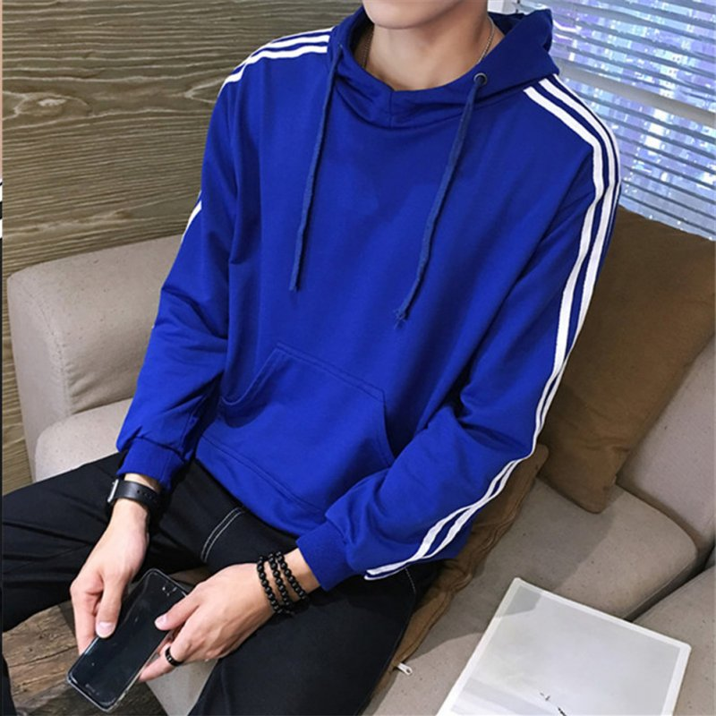 Men Women Fleece Lined Autumn Winter Sportswear 3 Fringes Long Sleeve Casual Jacket  blue_XXL