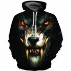 Men/Women Halloween 3D Werewolf Pullover