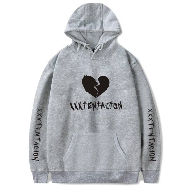 Men/Women Heartbreak Hoodie Fashionable Warm Fleeced Hooded Pullover Top gray_XL