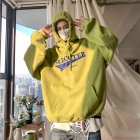 Men Women Hoodie Sweatshirt Letter Printing Fashion Loose Pullover Casual Tops Green_L