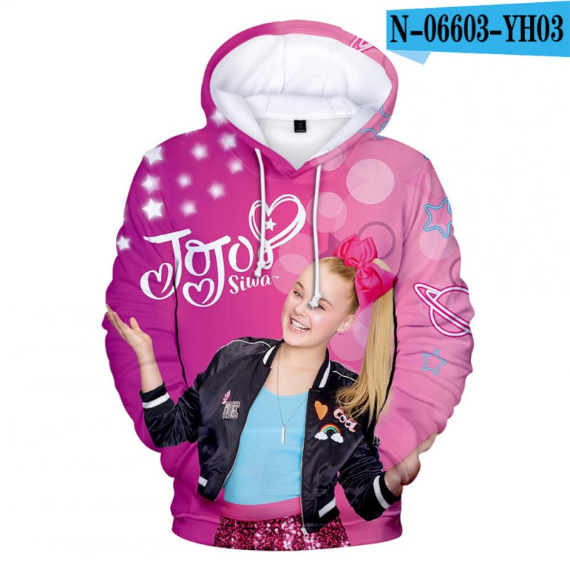 Men Women Hoodie Sweatshirt JOJO SIWA 3D Printing Loose Autumn Winter Pullover Tops B_L