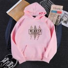 Men Women Hoodies Oversize Sweatshirt Loose Thicken Velvet Autumn Winter Pullover Pink_XXXL