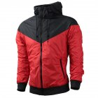 Men Women Jacket Sports Sunscreen Outdoor Windbreak Running Mountaineering Sportswear Coat red_M