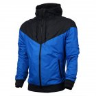 Men Women Jacket Sports Sunscreen Outdoor Windbreak Running Mountaineering Sportswear Coat blue_L