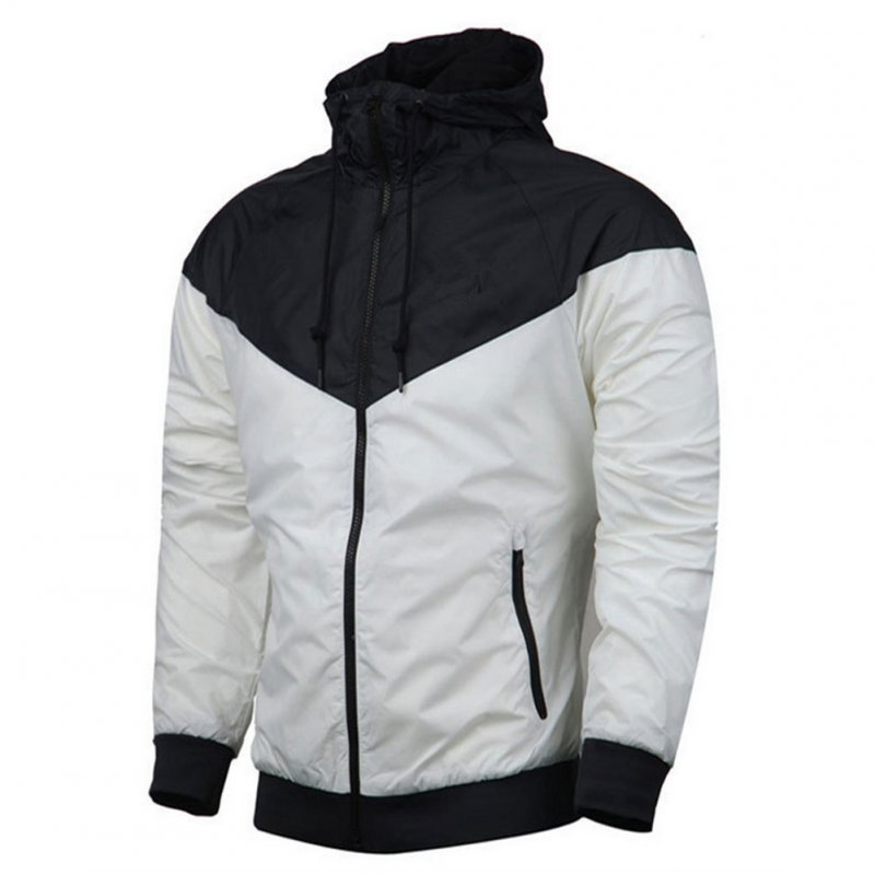 Men Women Jacket Sports Sunscreen Outdoor Windbreak Running Mountaineering Sportswear Coat white_XXXL
