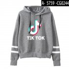 Men Women Letters Printing Long Sleeve Sport Casual Work Hoodies Pullover Sweatshirt Gray A_XL
