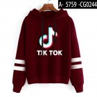 Men Women Letters Printing Long Sleeve Sport Casual Work Hoodies Pullover Sweatshirt Brown A_L