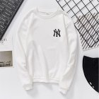 Men Women Lovers Fashion Round Collar Fleece Loose Hooded Sweatshirts Coat white_XL