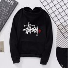 Men Women Lovers Fleece Thicken All Match Casual Sweatshirts Top Coat for Students Black 991#_L