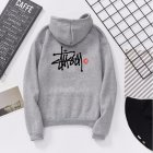 Men Women Lovers Fleece Thicken All Match Casual Sweatshirts Top Coat for Students Gray 991#_2XL
