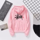 Men Women Lovers Fleece Thicken All Match Casual Sweatshirts Top Coat for Students Pink 991#_XL