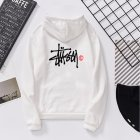 Men Women Lovers Fleece Thicken All Match Casual Sweatshirts Top Coat for Students White 991#_2XL