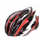 Men Women Outdoor All in One Safety Helmet for Cycling black White Red_One size