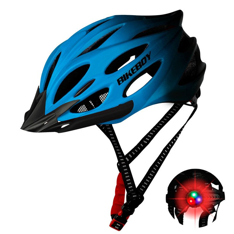 Men Women Piece Molding Cycling Helmet for Head Protection Bikes Equipment  Gradient blue_One size