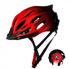 Men Women Piece Molding Cycling Helmet for Head Protection Bikes Equipment  Gradient red One size